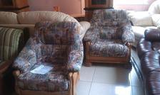 Диван Цезарь +кресло (из массива дуба) (французкая раскладушка)