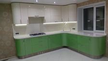 Кухня из крашенного МДФ с спецэффектами (ул. Глазечная)