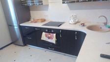 Кухня шпон + крашенный МДФ (ул.Ворошилова, д.143б, к.2)
