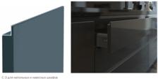 С 01.05.2020 г. по 30.06.2020 г. снижены цены на современные кухни стали ещё доступнее. – 45 % на модели месяца! со скрытыми ручками-профилями С-1, С-2, С-3.